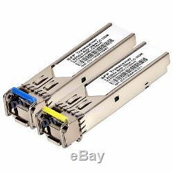 20 km WDM BiDi SFP 1G DDM LC GLC-BX-D GLC-BX-U 1310/1550 transceiver -10 pcs