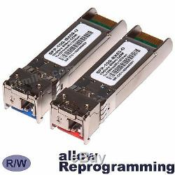 60 km 10G BiDi WDM SFP+ SFPPlus plus 60km transceiver module compatible -Pair