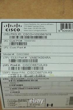 Brand New CISCO887VA-K9 Secure Router VDSL2/ADSL2+ Over POTS 1YrWty TaxInv