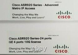 Cisco ASR920 Series 24GE Fiber and 4-10GE Mod Network Router ASR-920-24SZ-M