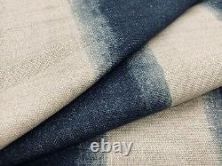Cisco Fabrics Indigo Stripe Linen Print Fabric- Minh / Midnight 6.65 yds