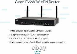 Cisco RV260W VPN Router with 8 Gigabit Ethernet Ports Wireless-AC VPN Firewall