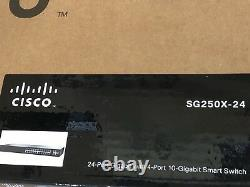 Cisco SG250X-24 24-Port Gigabit with 4-Port 10-Gigabit Smart Switch