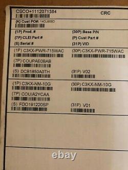 Cisco WS-C3750X-24P-S 24-Port PoE Gigabit 3750X Switch with C3KX-NM-10G