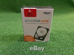 HGST Deskstar NAS 3.5 4TB 7200RPM 64MB Cache SATA3 Hard Drives 1YrWty