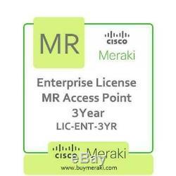 Meraki MR Series Enterprise Edition Licence, 3-Year, 1 Access Point LIC-ENT-3YR