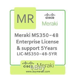 Meraki MS350-48 Enterprise License and Support, 5YR, LIC-MS350-48-5YR