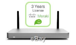 NEW Meraki MX67W Appliance and 3 Year Advanced License MX67W-LIC-MX67W-SEC-3YR