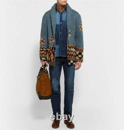 NWT $580 KAPITAL Cisco Distressed Washed Denim Straight Fade Jeans Size 32 Japan
