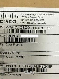 New Cisco D9800-SS-MPEGOIP Network Transport Receiver 3G-DSI DVB-CISAT-GEN1