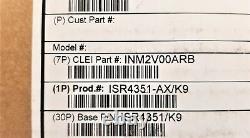 New Cisco Isr4351-ax/k9 Ipbase Sec App Licenses, Pwr-poe-4450 Psu Isr4351/k9