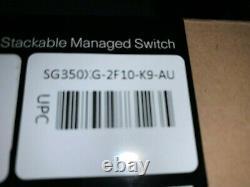 New Cisco SG350XG-2F10-K9-AU 12-Port 10G Managed Network Switch 10Gbe