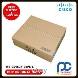 Original CISCO WS-C2960X-24PS-L Catalyst 2960X Switch 24 Port PoE 1YEAR WARRANTY
